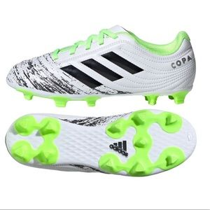 Adidas Youth Soccer Copa Cleats White Green